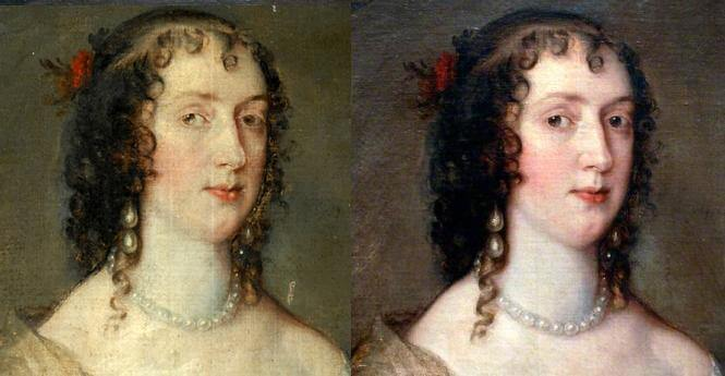 Before and After A Painting Restoration